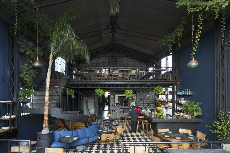 dining area inside romita restaurant in mexico city by mimi giboin for gardenista